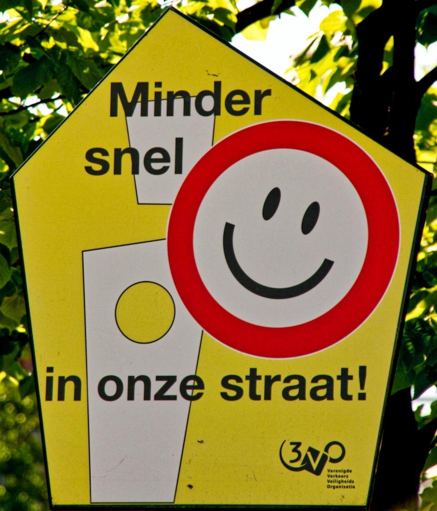 Amsterdam sensiblitation à la réduction de vitesse dans un quarter d'habitation