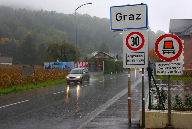 Graz, sud de l'Autriche, ville à 30, porter de la ville