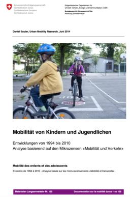 vignette mobilité des enfants et adolescents 1994 - 2010