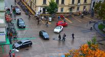 Zone de rencontre de la Sonnenfeelsplatz à Graz Autriche