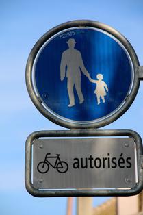 Cohabitation piéton - cycliste