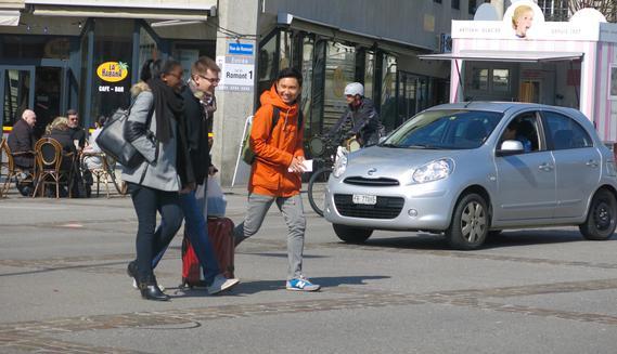 Zone de rencontre Square des Places en ville de Fribourg