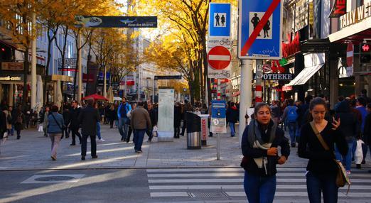 Zone piétonne Mariahilfer à Vienne