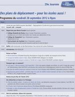 Journée 2012-Programme