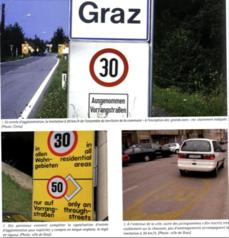 Graz : panneau d'entrée de la ville
