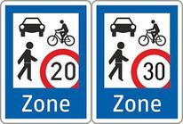 Zone de rencontre autrichienne 20 et 30 km/h