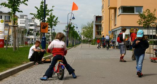 Vauban : Mobilité douce et enfants