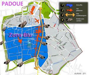 Carte ZTL de Padoue