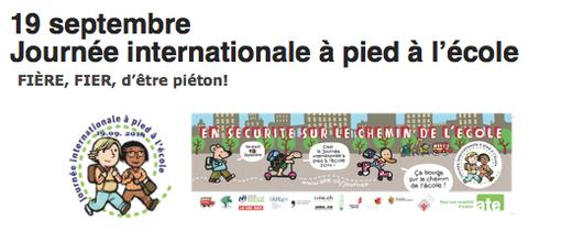 Journée internationale à pied à l'école 2014