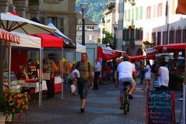 Sion, le marché du centre-ville