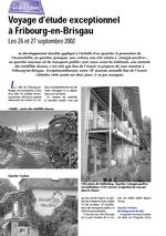 Programme journée 2002 Fribourg-en-Brisgau vignette