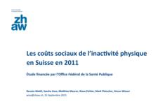 vignette Les coûts sociaux de l'inactivité physique en Suisse