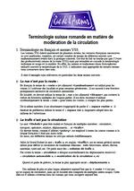 Terminologie suisse romande - vignette