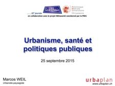 vignette Urbanisme, santé et polituques publics
