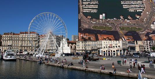 Vieux-Port de Marseille avant-après