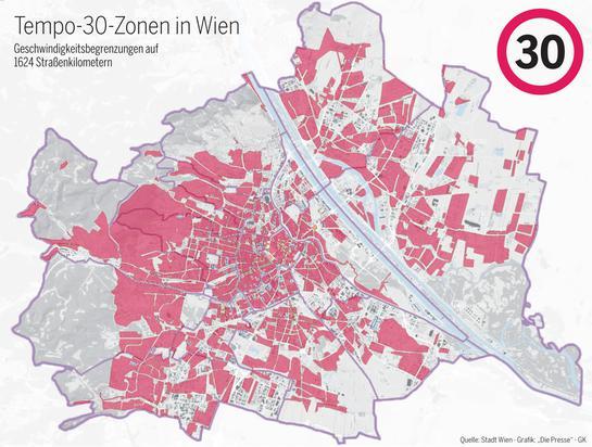 Plan des zones 30 de Vienne