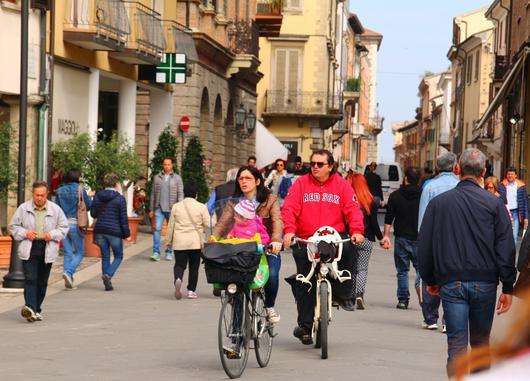 Cohabitation piétons - cylcistes à Rimini