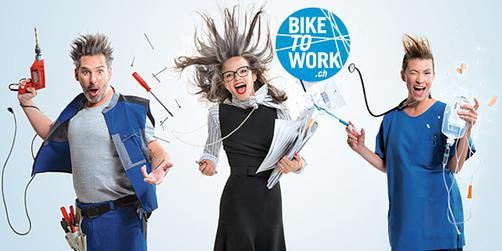 Au travail à vélo