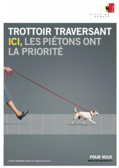 Trottoir traversant + chien