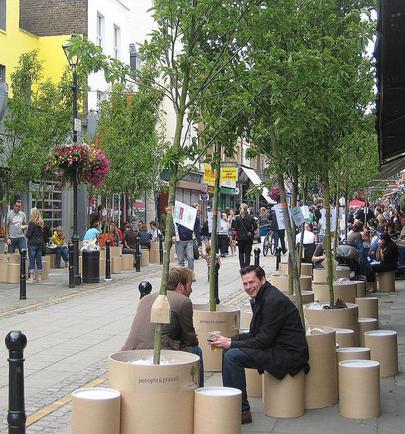 Londres espace public bon marché