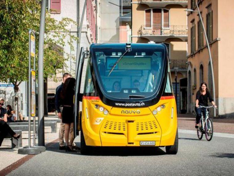 Véhicule autonome de Car Postal à Sion