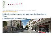 Essai 30 km/jh la nuit à Lausanne - rapport intermédiaire