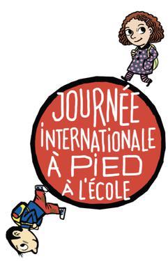 Logo Journée internationale 'à pied à l'école'